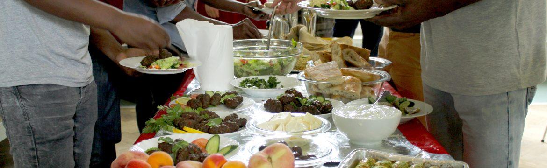 Essen im Cafe Welcome